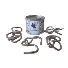 Juego de pasatiempos de metal en lata personalizada