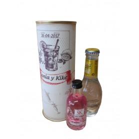 Pack Gin Tonic Schweppes Premium con Ginebra GIN SK STRAWBERRY en lata personalizada