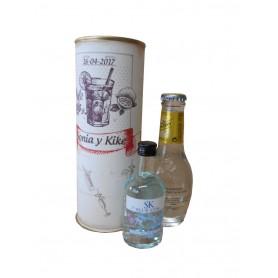 Pack Gin Tonic Schweppes Premium con Ginebra Gin SK BLUE en lata personalizada