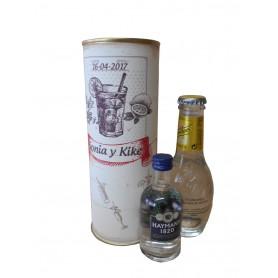 Pack Gin Tonic Schweppes Premium con Ginebra GIN LIQUEUR HATMAN´S en lata personalizada