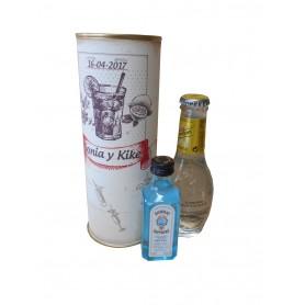 Pack Gin Tonic Schweppes Premium con Ginebra Bombay Sapphire en lata personalizada