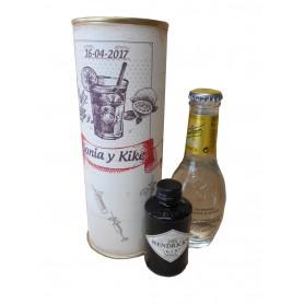 Pack Gin Tonic Schweppes Premium con Ginebra Gin Hendrick´s en lata personalizada