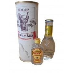 Pack Gin Tonic Schweppes Premium con Ginebra Gordon´s en lata personalizada