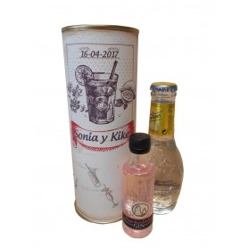 Gin Tonic Schweppes Premium con Ginebra Puerto de Indias STRAWBERRY en lata personalizada