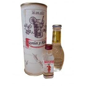 Gin Tonic Schweppes Premium con Ginebra Beefeater en lata personalizada