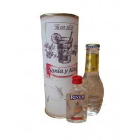 Pack Gin Tonic Schweppes Premium con Ginebra Rivers en lata personalizada
