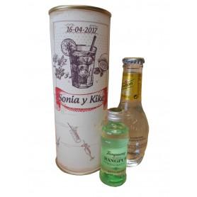 Gin Tonic Schweppes Premium con Ginebra Tanqueray Rangpur en lata personalizada