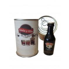Botellin miniatura Licor crema Bayleys en lata