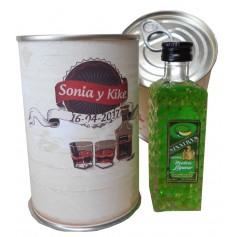 Botellin miniatura Licor Sinatras Melón en lata