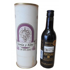 Botellín vino tinto Joven Antaño en lata personalizada