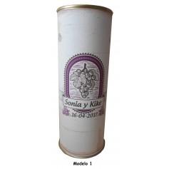 Miniatura Botellín vino tinto Joven Antaño en lata personalizada