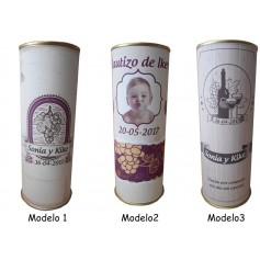Botella de vino Tinto Mayor de Castilla con paté y queso azul en lata