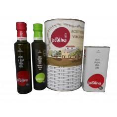 Lote de Aceite de Oliva Virgen extra Jacoliva en lata con abre Fácil
