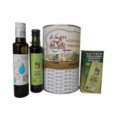Lote de Aceite de Oliva Virgen extra cultivo ecológico El Lagar del Soto en lata con abre Fácil