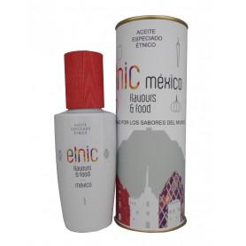 Aceite especiado que identifica la cocina de México en lata con abre fácil