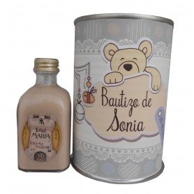 Licor Crema de 5cl en lata personalizada para Bautizo