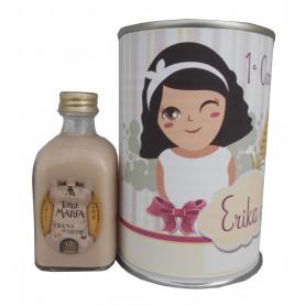 Licor de Crema de 5cl en lata para detalle Comunión niña
