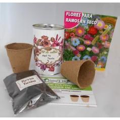 Kit de cultivo flores ramos en seco para detalles
