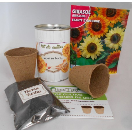Kit de cultivo girasol para regalos originales for Regalos originales decoracion