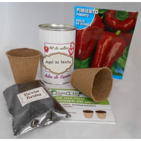 Kit de cultivo Pimiento para regalos invitados originales