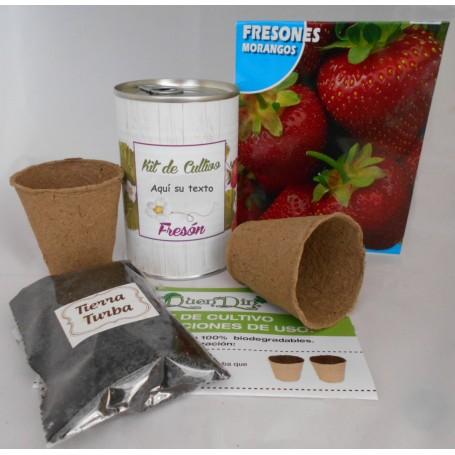 Kit de cultivo Fresones el detalle ideal para tus invitados