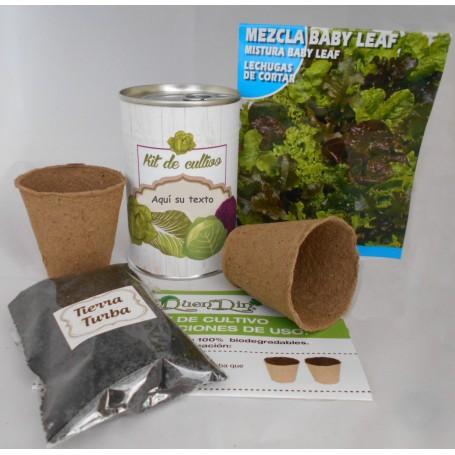 Kit de cultivo Lechuga Mezcla Baby Leaf para detalles