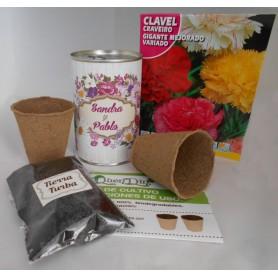 Kit de cultivo Clavel un detalle para tus invitados