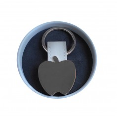 Llavero manzana para detalles originales en lata personalizada