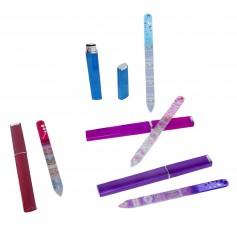 Limas de cristal de diseño en funda para detalles