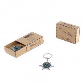 Llavero brujula en caja postal