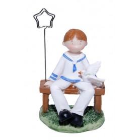 Figura de Comunión niño sentado