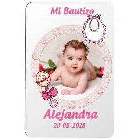 Iman personalizado para detalle de Bautizo niña