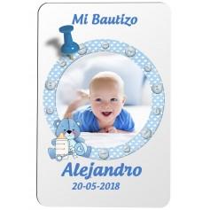 Iman personalizado para detalle de Bautizo niño