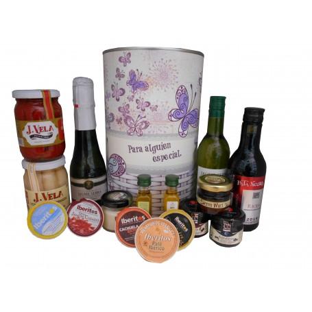 Lata personalizada con productos gourmet para regalo mujer