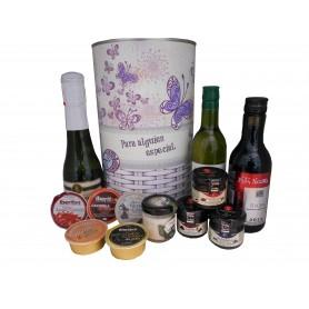 aeb07abc0 Lata con abre fácil con productos gourmet para regalo mujer