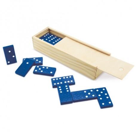 Domino en caja de madera para regalos invitados
