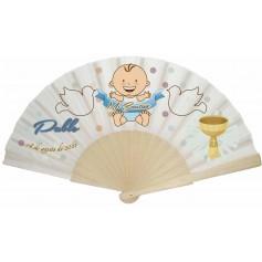 Abanico para bautizo personalizado niño o niña