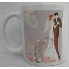 Taza o Mugs personalizado postal boda.