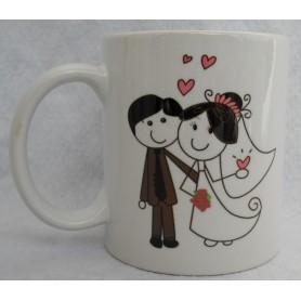 Taza o Mugs personalizado boda monigotes.