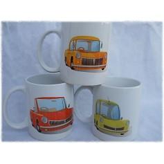 Set de 3 tazas coches