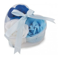 Estuche jabon rosas azules