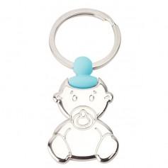 Llavero Personalizado Bautizo Bebé Azul