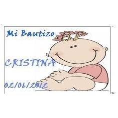 Tarjeta Bautizo niña con lacitos