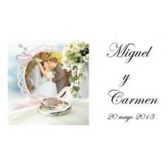 Etiqueta boda anillos
