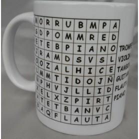 Taza sopa de letras