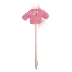 Boligrafo chaquetita rosa