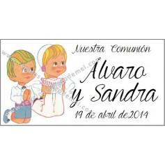 Etiqueta Niña y niño rezando