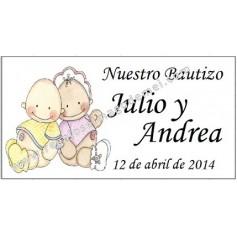 Tarjeta Bautizo niños
