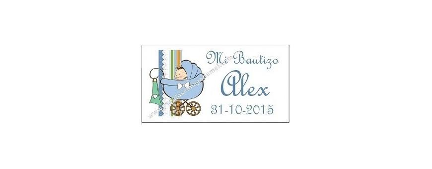 Etiquetas Bautizo y Baby Shower