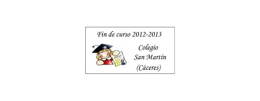 Etiquetas fin de curso o graduación